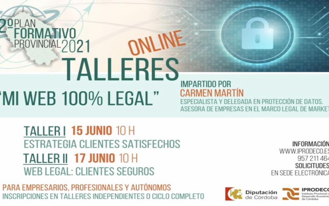 IPRODECO pone en marcha dos acciones formativas centradas en la creación de espacios web 100% legales para empresas y emprendedores cordobeses